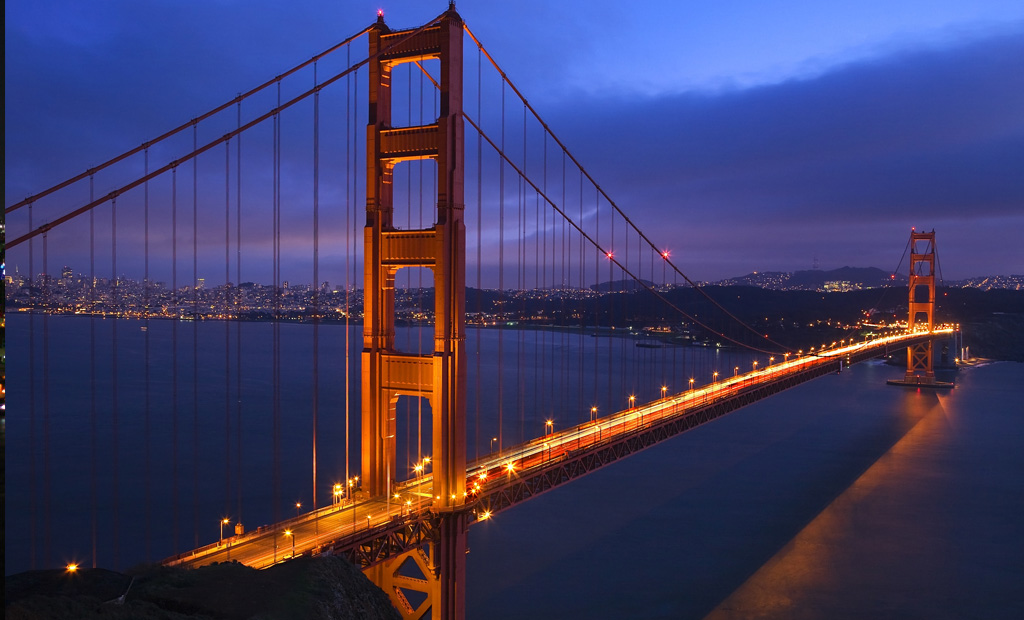San Franciso Golden Gate Bridge at night Depositphotos_6146713_I-2015