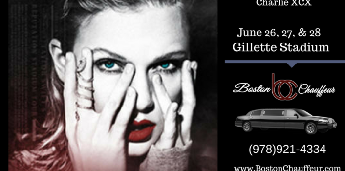 limo to Taylor swift concert Gillette stadium July 26, 27 28, 2018