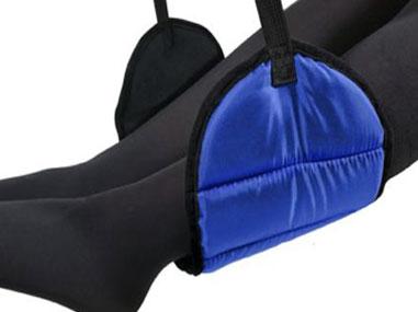 Zody leg sling for air travel comfort