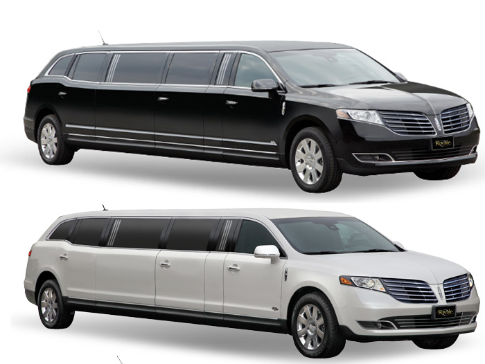 Boston Chauffeur's black and white stretch limos for weddings and other chauffeured events.